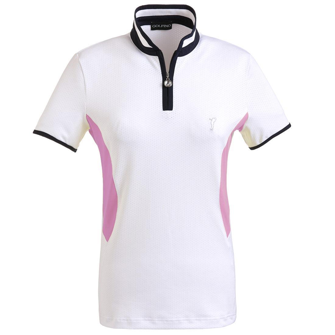 Damen Kurzarm Funktions-Golfpolohemd aus elastischem Mesh