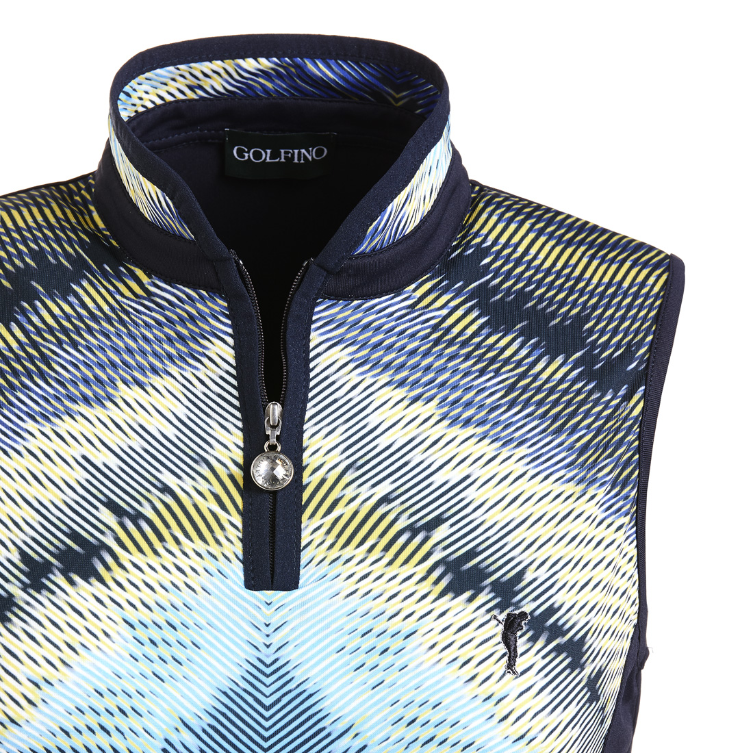 Ärmelloses Funktions-Golfpolo mit Moisture Management in Slim Fit