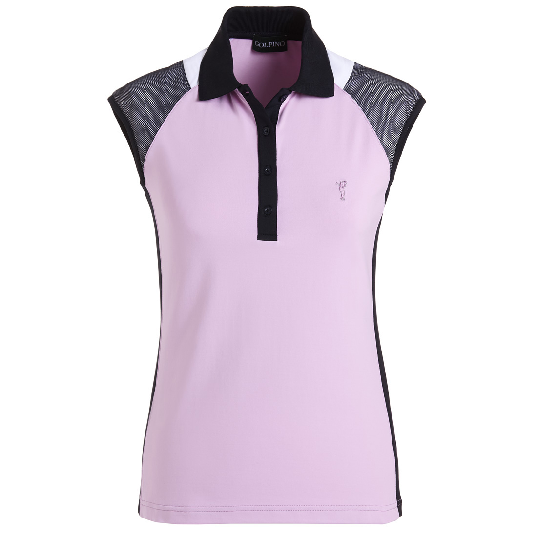 Dry Comfort Golfpolo mit Mesh-Einsätzen im Pro-Look