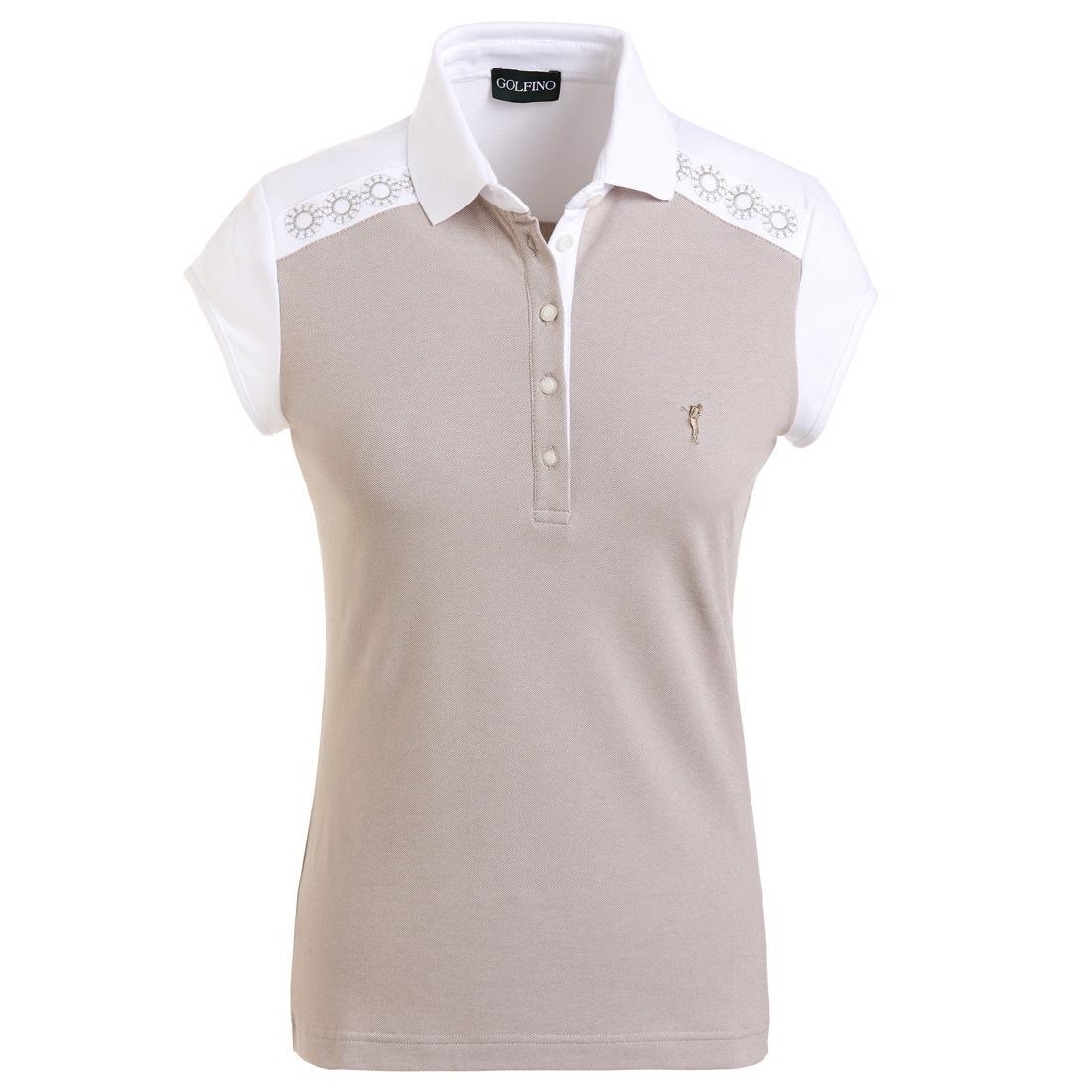 Damen Golfpoloshirt mit Sun Protection und edler Stickerei in Slim Fit