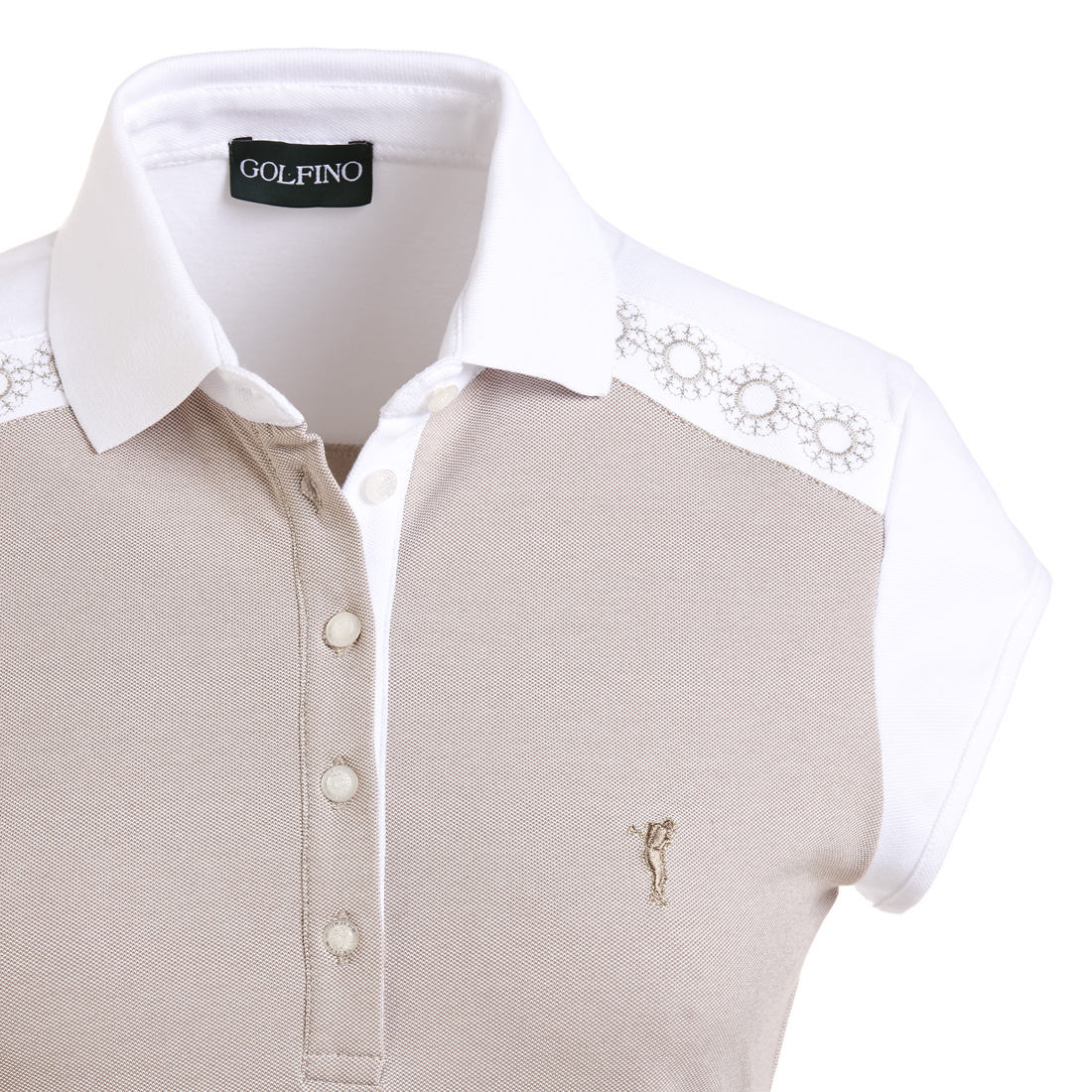 Damen Golfpoloshirt mit Sun Protection und edler Stickerei in Slim Fit
