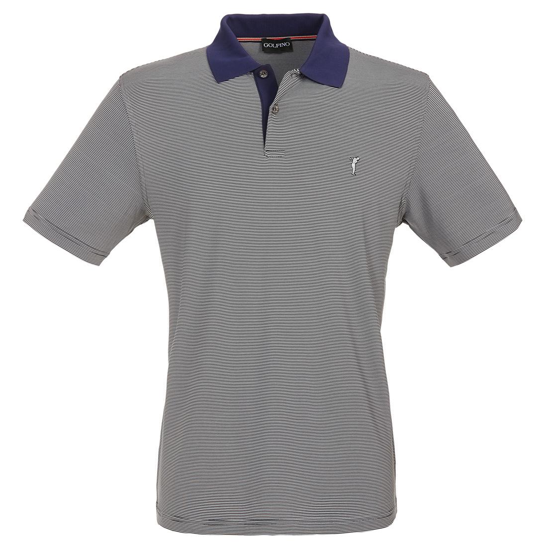Gestreiftes Golfpolo Quick-Dry