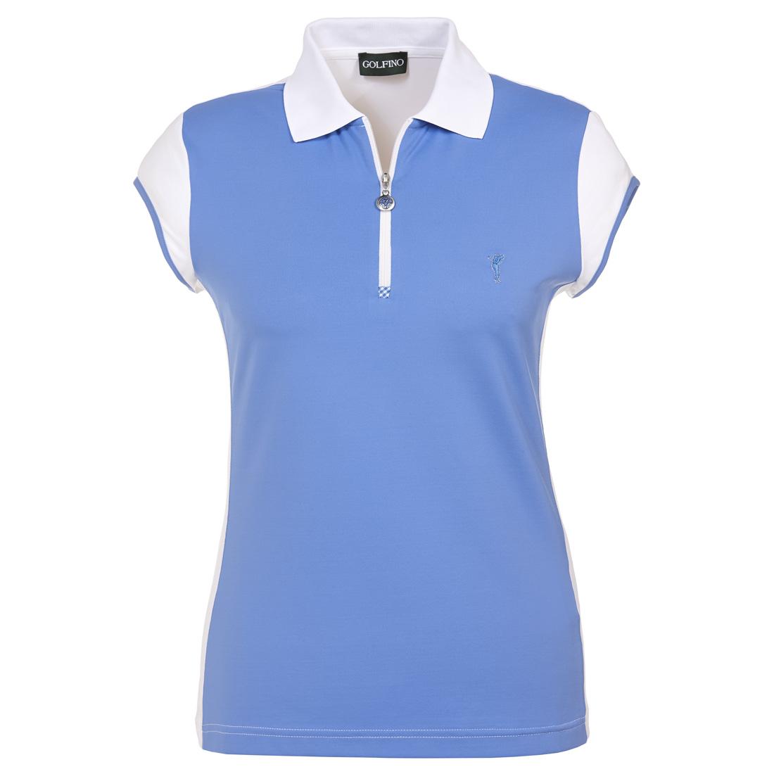 Rundhals Damen Funktions-Golfpolo mit Zip
