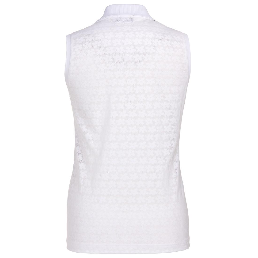 Rundhals Damen Funktions-Golfpoloshirt mit Zip