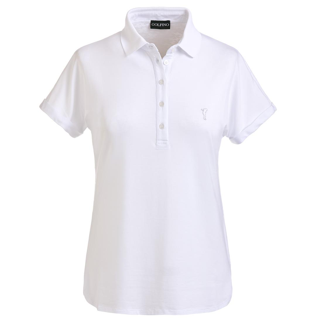 Loose Fit Damen Golfpolo mit Rückenteil aus Spitze