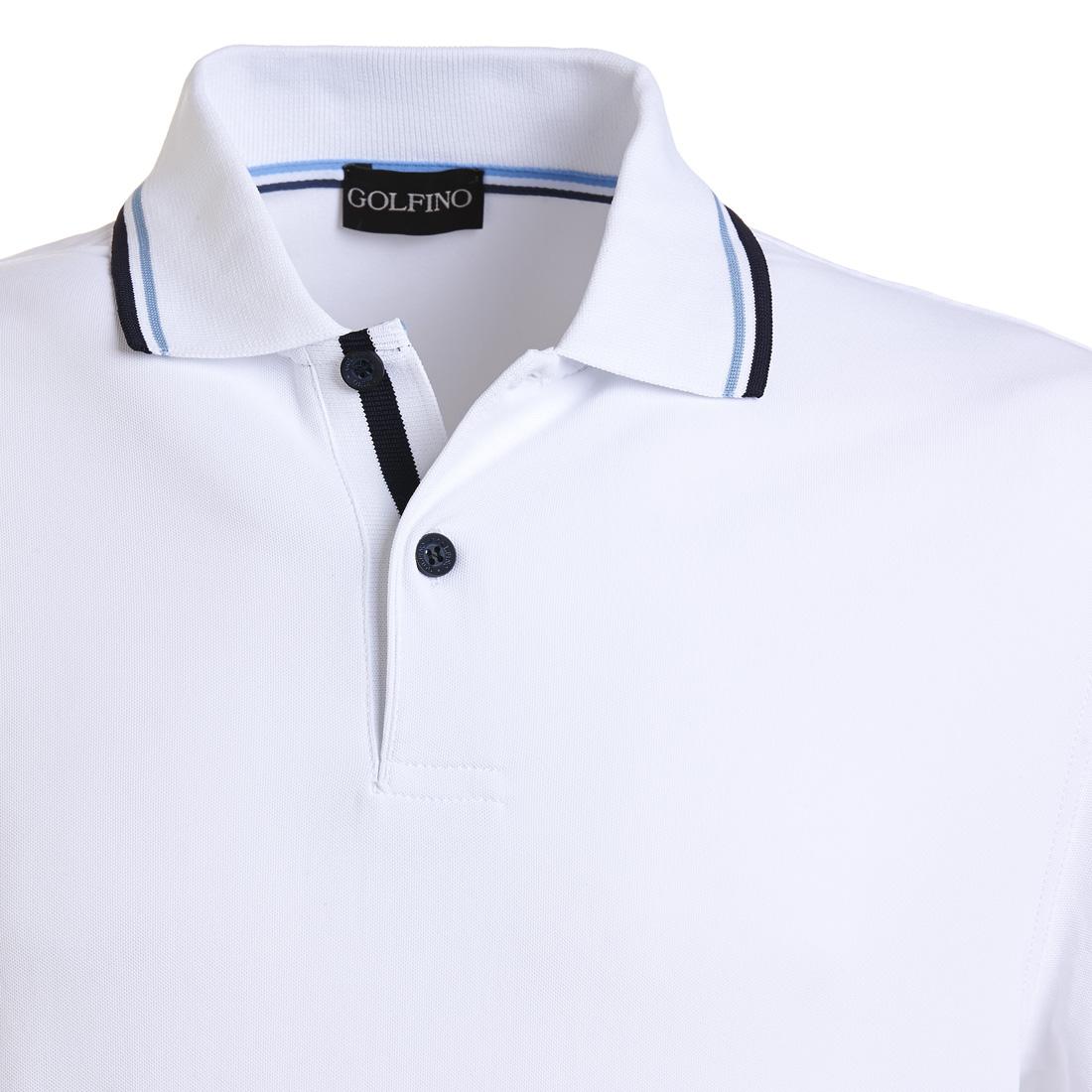 Herren Golfpiqué mit UV-Schutz und Moisture-Management