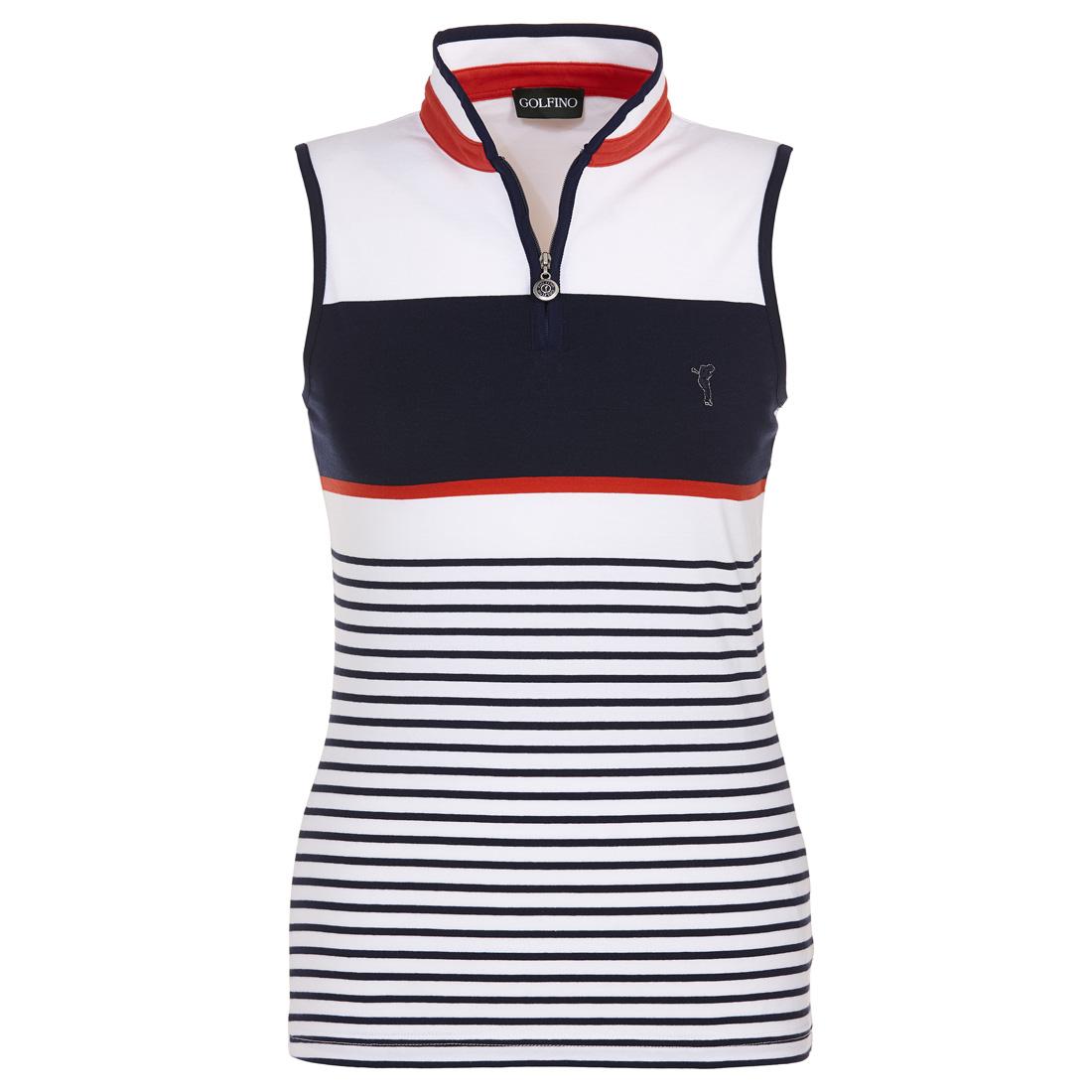 Gestreiftes Baumwoll Golfpolo mit sehr guten Stretcheigenschaften in Slim Fit