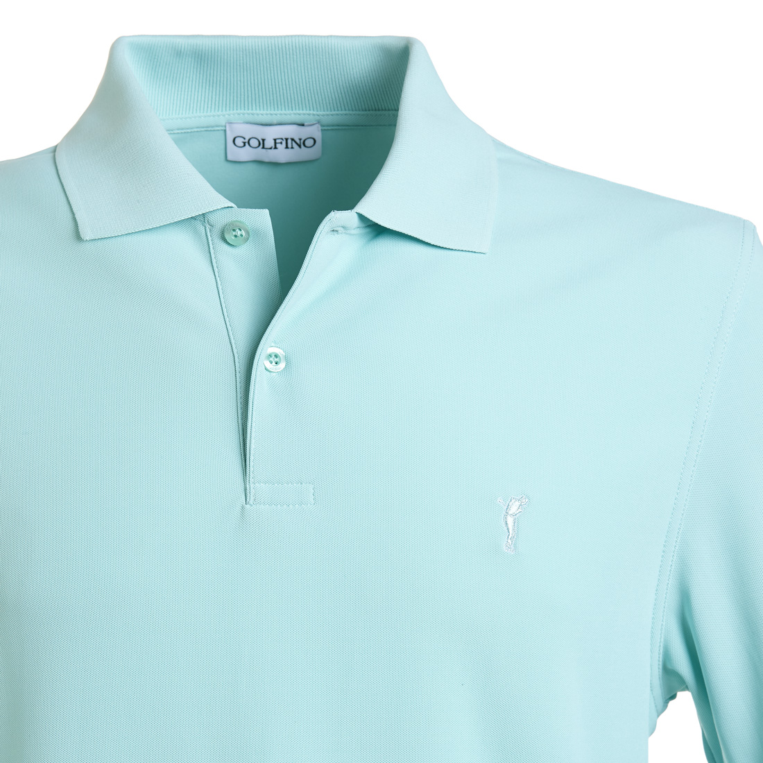Kurzarm Golfpiqué mit Moisture-Management unifarben