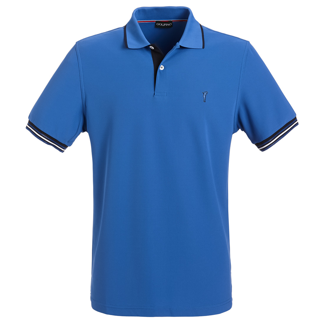 Slim Fit Herren Funktions-Golfpolo mit Moisture Management und UV-Protection