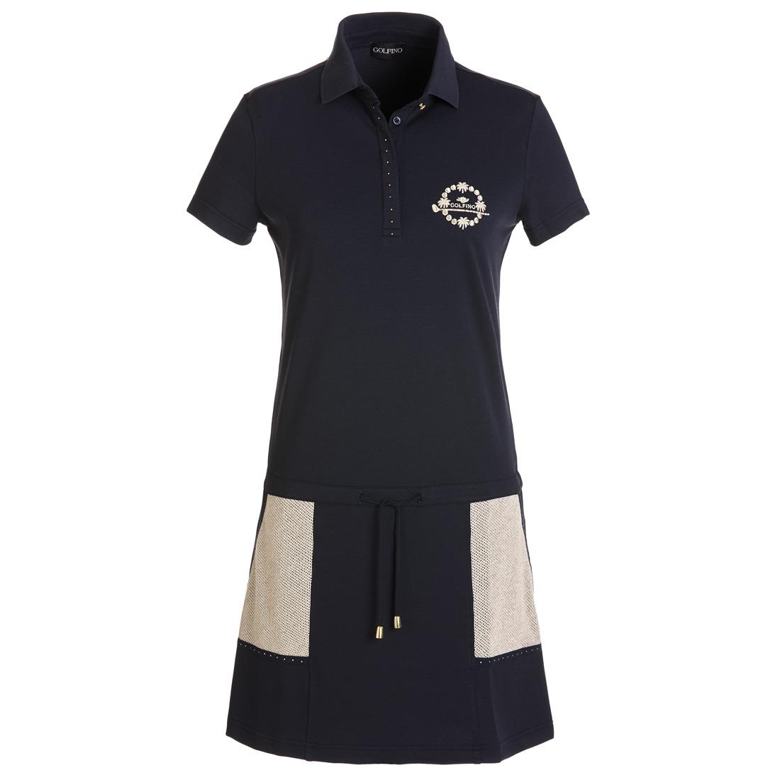 Pique Golfkleid mit UV-Schutz und Shorts. Loose Fit