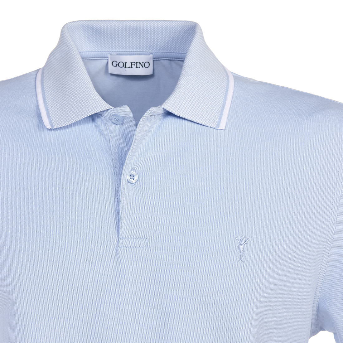 Funktions-Golfpolo Chambray mit Sun Protection