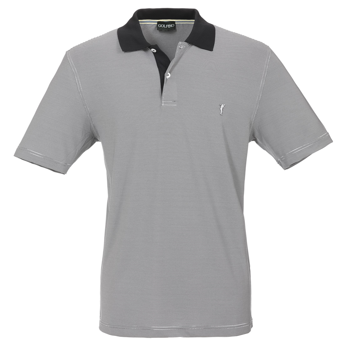 Gestreiftes Herren Golfpoloshirt in Regular Fit