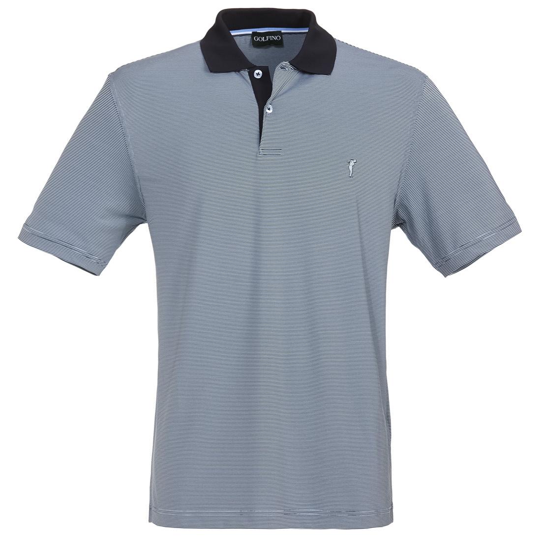 Gestreiftes Herren Golfpoloshirt in Regular Fit