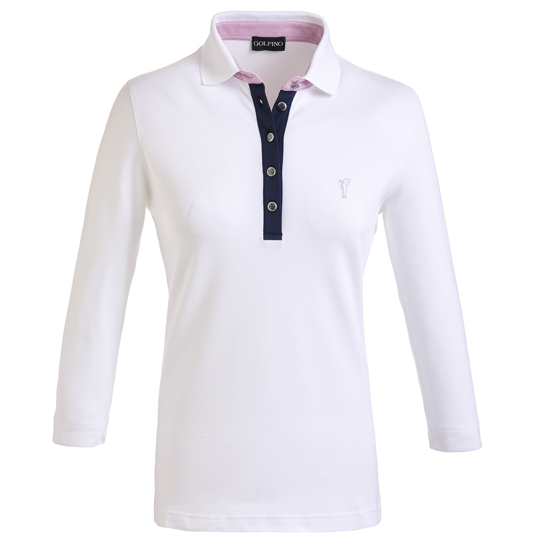 3/4-Arm Damen Poloshirt mit Sun Protection