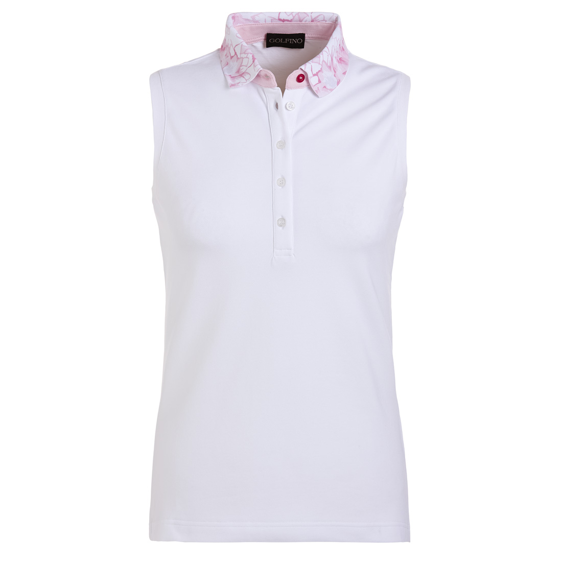 Ärmelloses Damen Golfshirt Sun Protect mit Blütenprint in Regular Fit