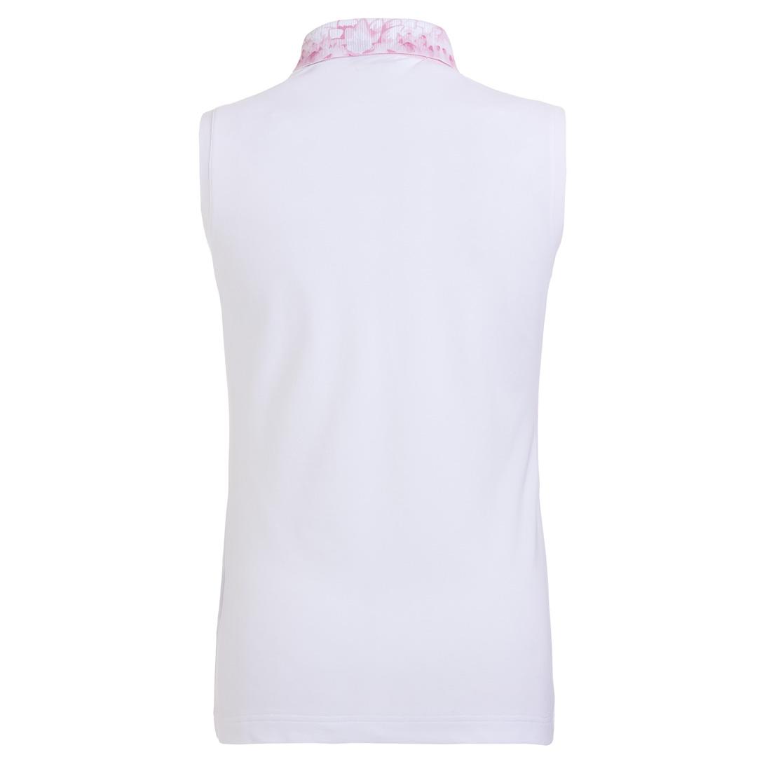 Ärmelloses Damen Golfshirt Sun Protect mit Blütenprint in Regular Fit