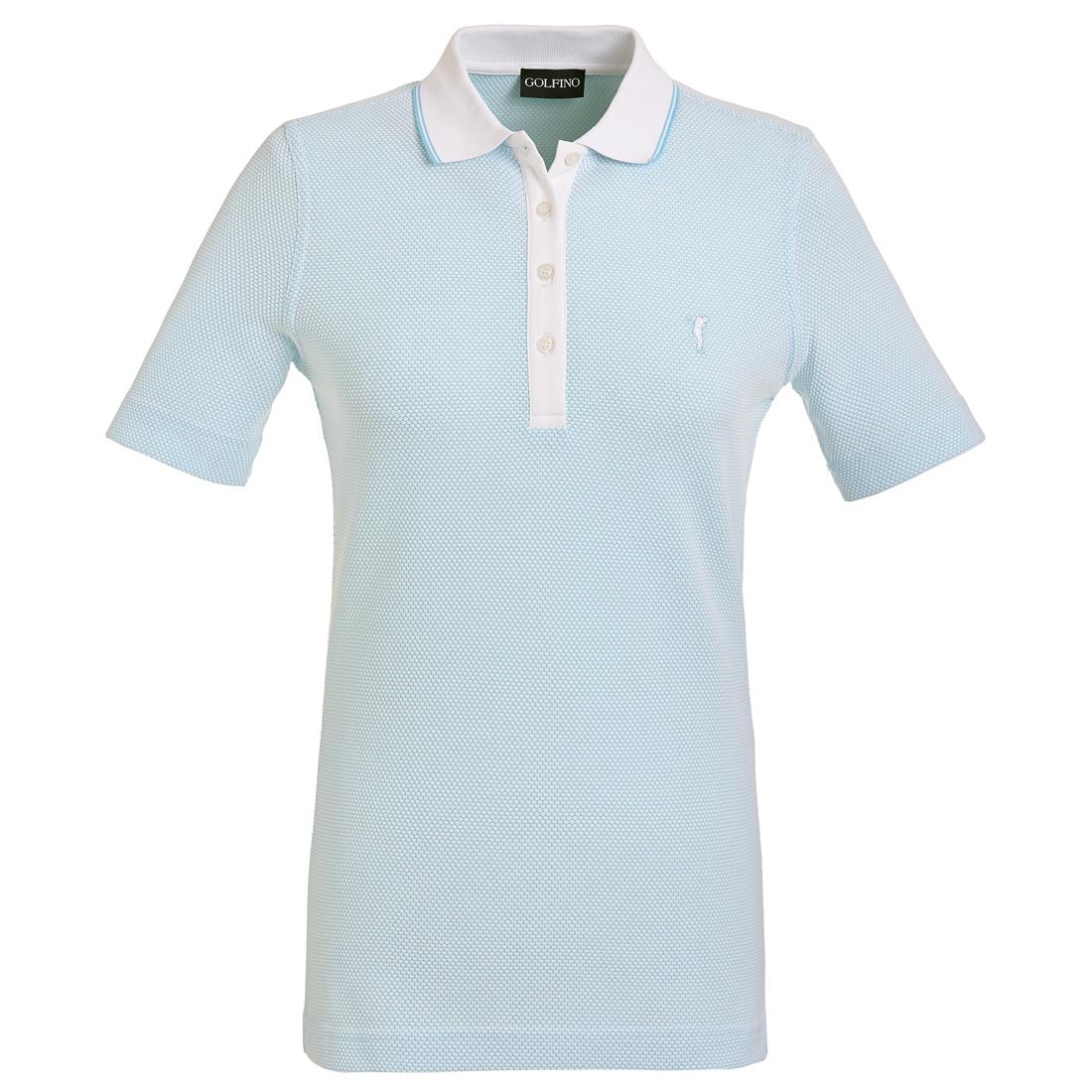Damen Funktions-Golfpoloshirt in Regular Fit aus hochwertigem Bubble Jacquard