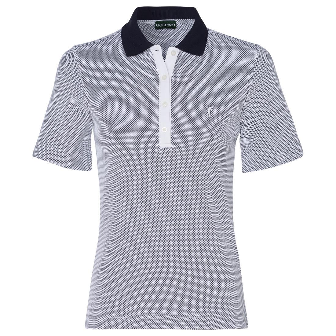 Bubble Jacquard Kurzarm Poloshirt