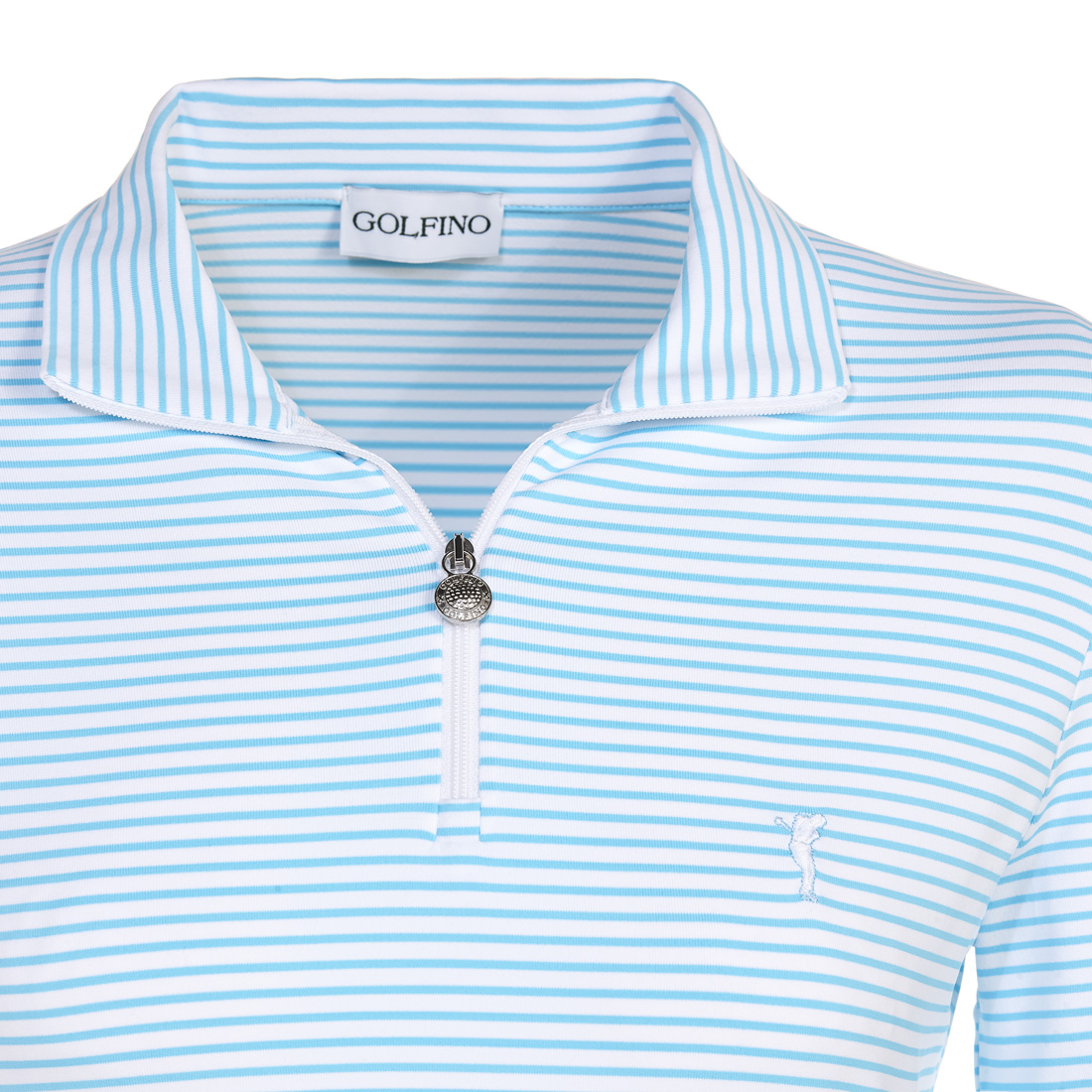 Maritimes Langarm Funktions-Golfpolo Regular Fit