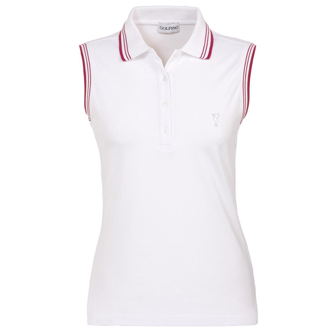 Ärmelloses Funktions-Golfpoloshirt mit Sun Protection und Kontraststreifen
