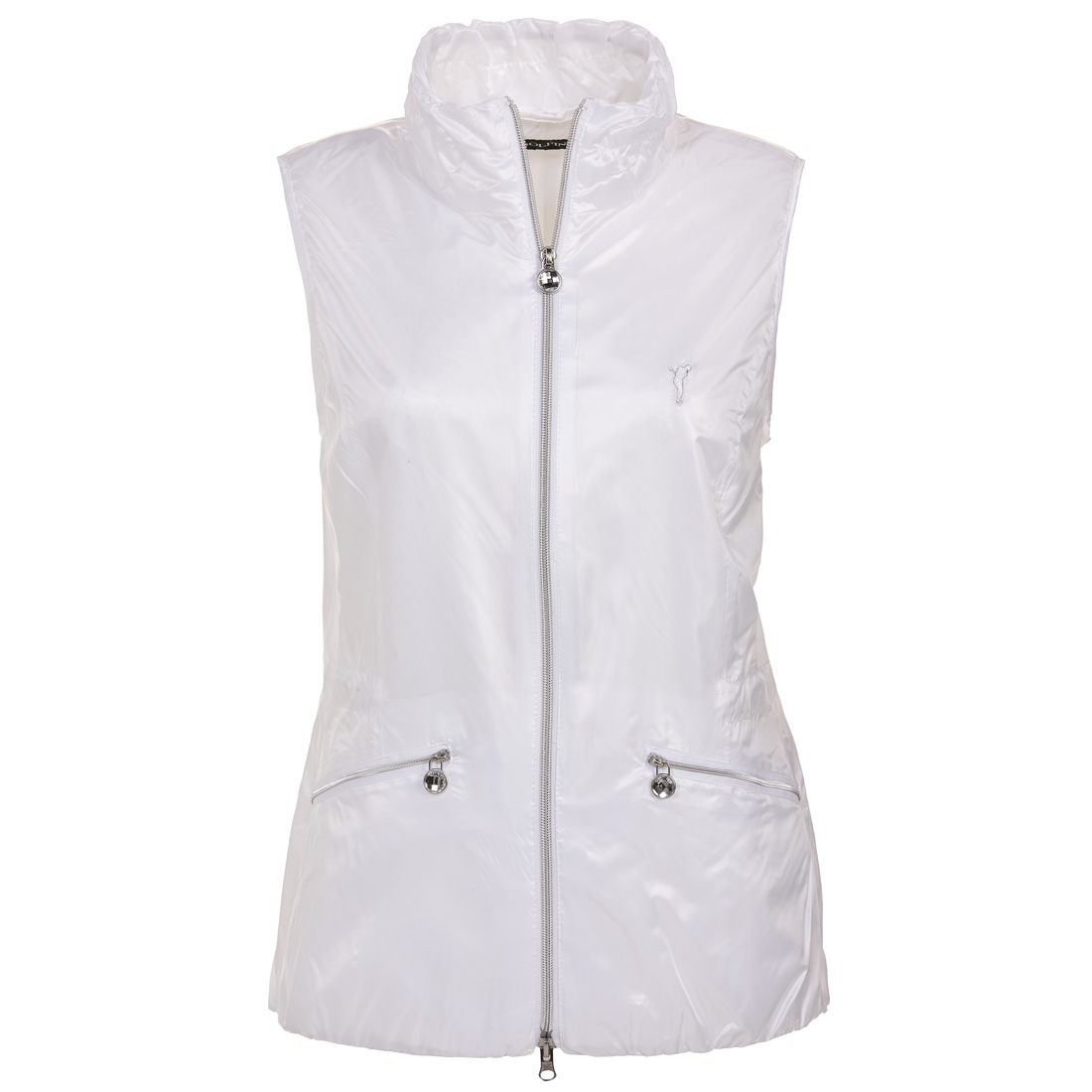 Ladies' gilet with drawstring waist