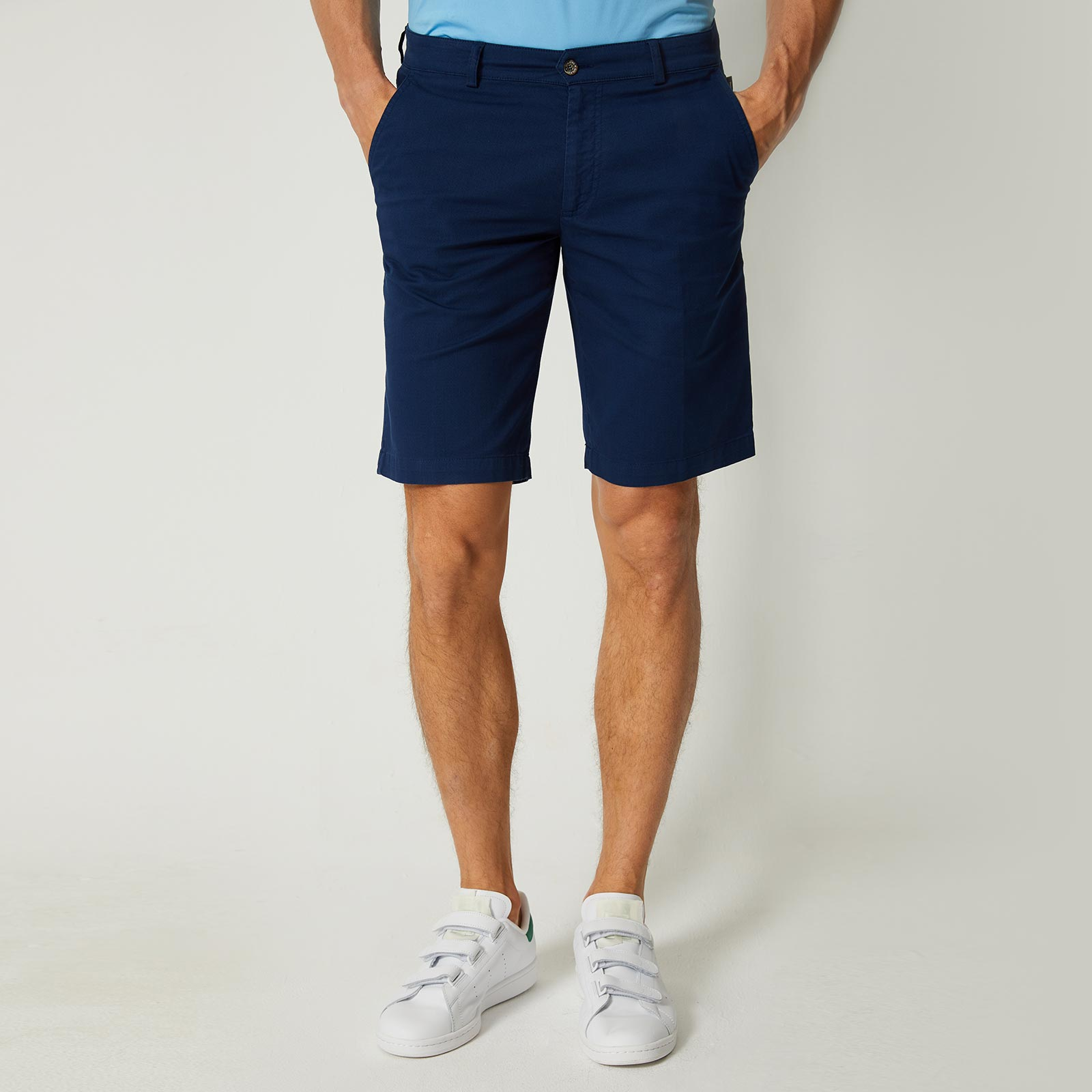 Herren Baumwoll-Golfbermuda in Regular Fit