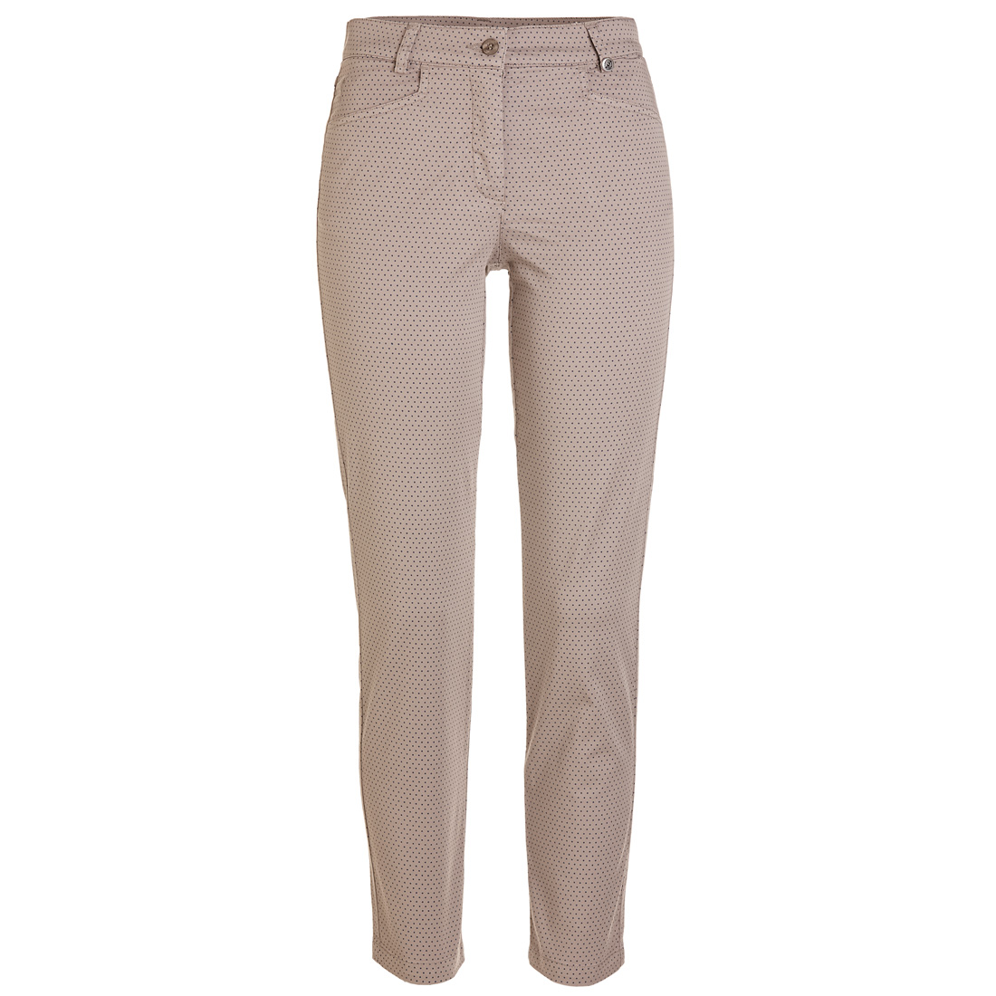 Dot Printed Stretch Trouser (Slim Fit)