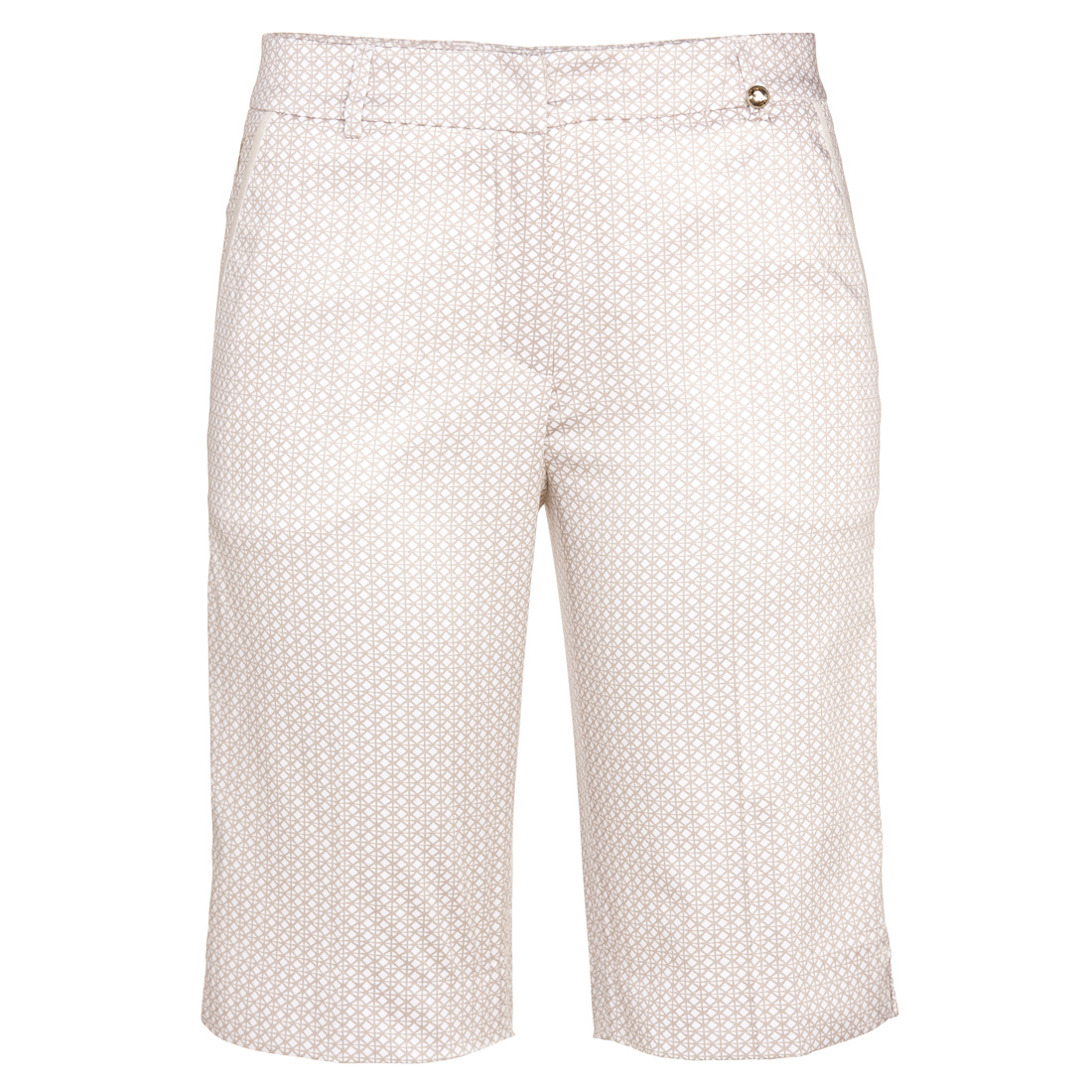 Damen Stretch Golf-Bermuda mit modischem Print in Regular Fit