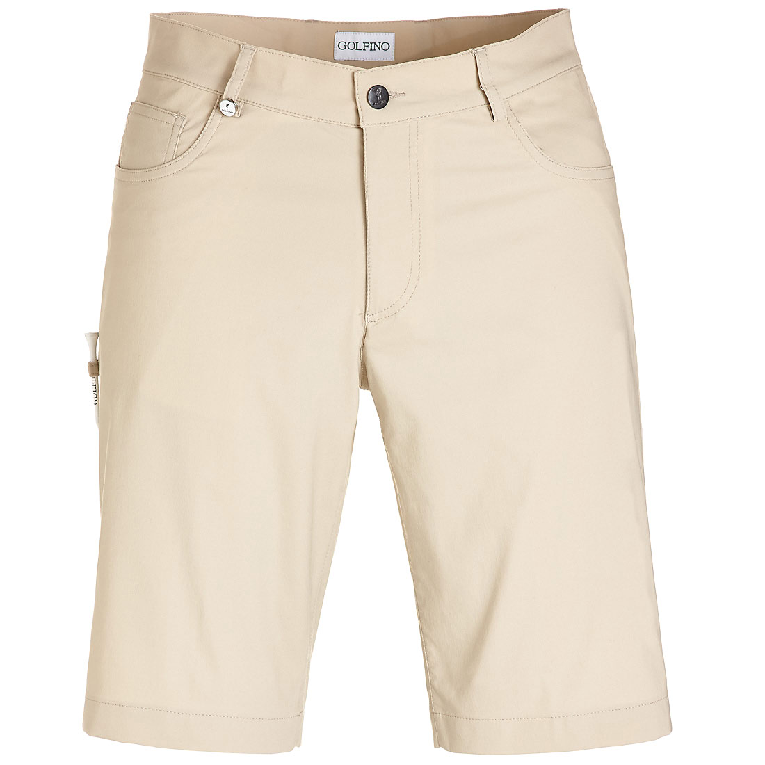 5-Pocket Stretch-Performance Bermuda in Slim Fit mit UV-Schutz