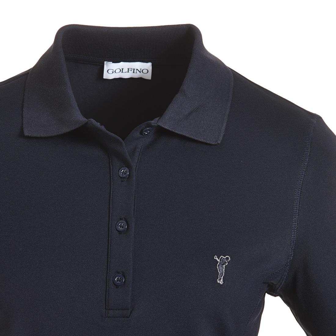 Damen Golf Poloshirt Sun Protection in Slim Fit