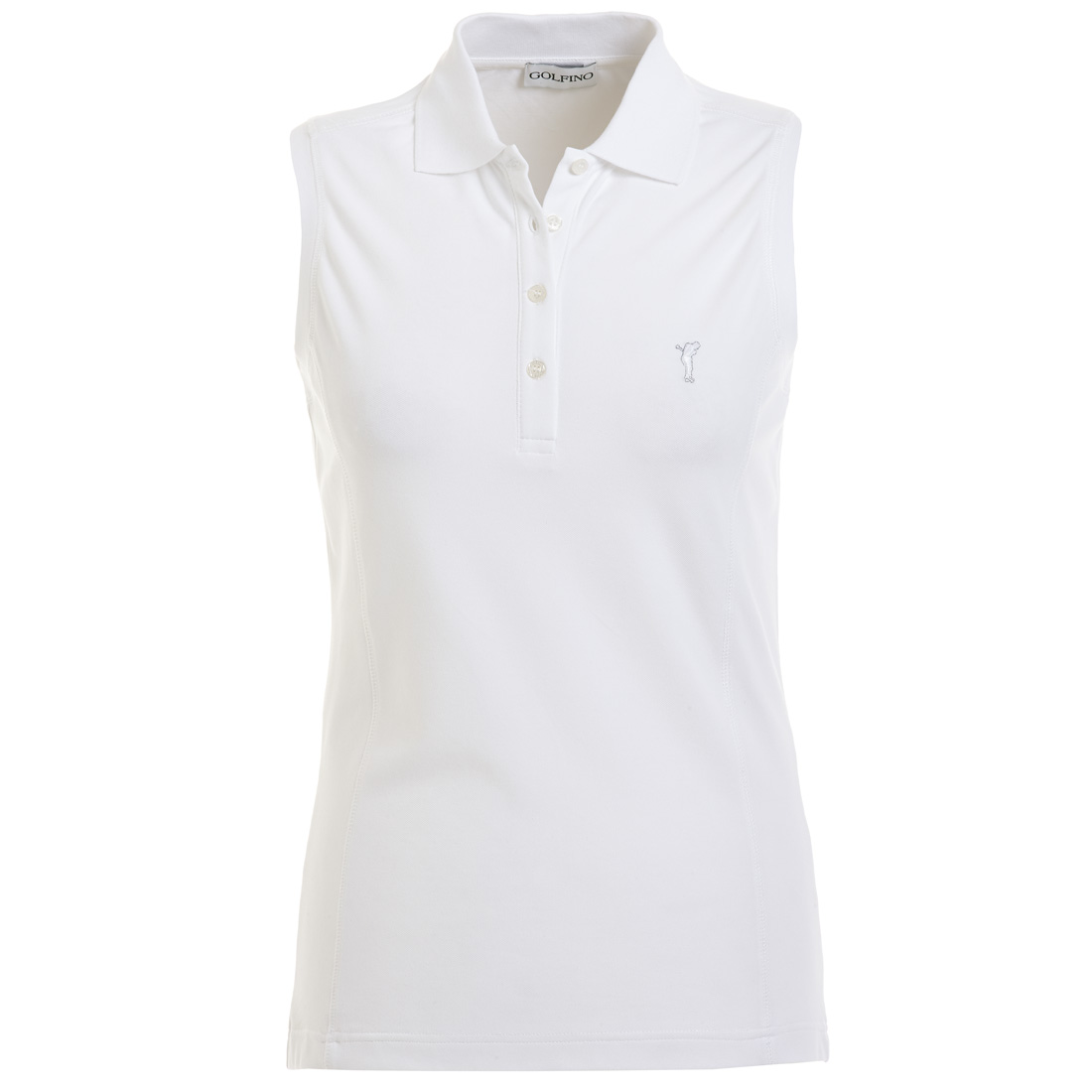 Ärmelloses Damen Golf Polohemd Sun Protection in Slim Fit