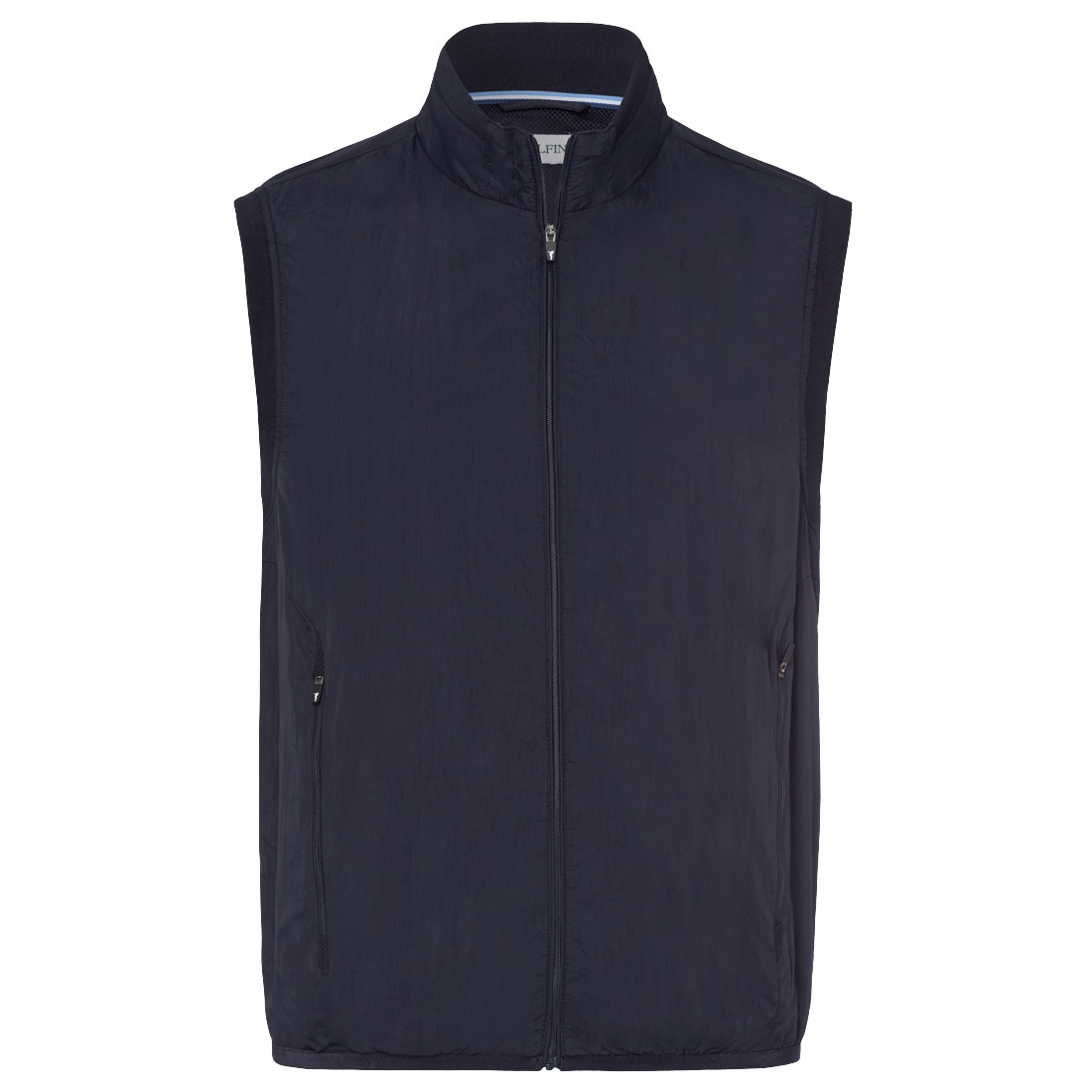 Professional men's golf waistcoat with wind protection, unlined, light and breathable