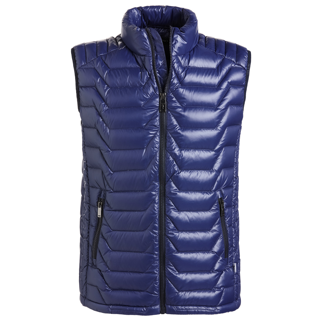 Lightweight men's down golf waistcoat with cold protection