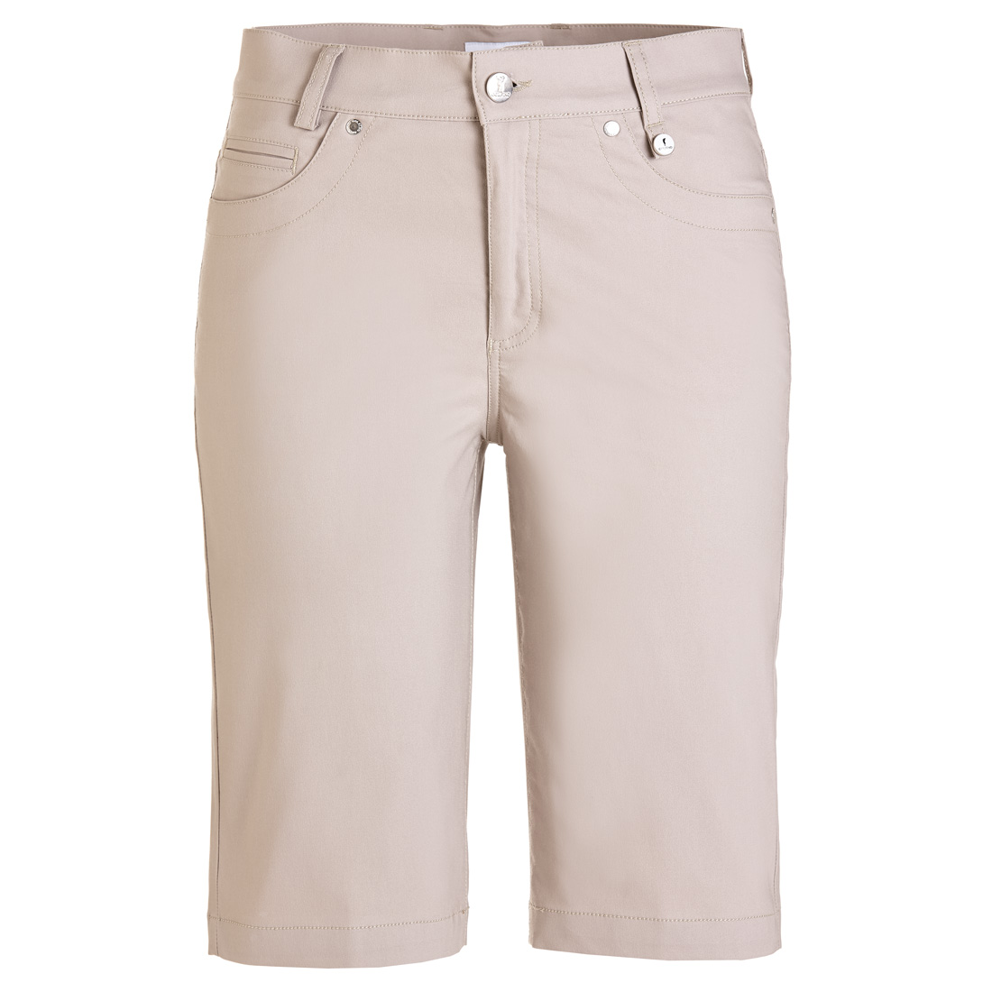 5-pocket golf Bermudas in cotton stretch with UV protection in slim fit