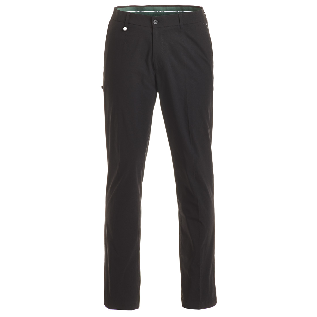 Modern functional golf trousers with moisture management and sun protection in regular fit