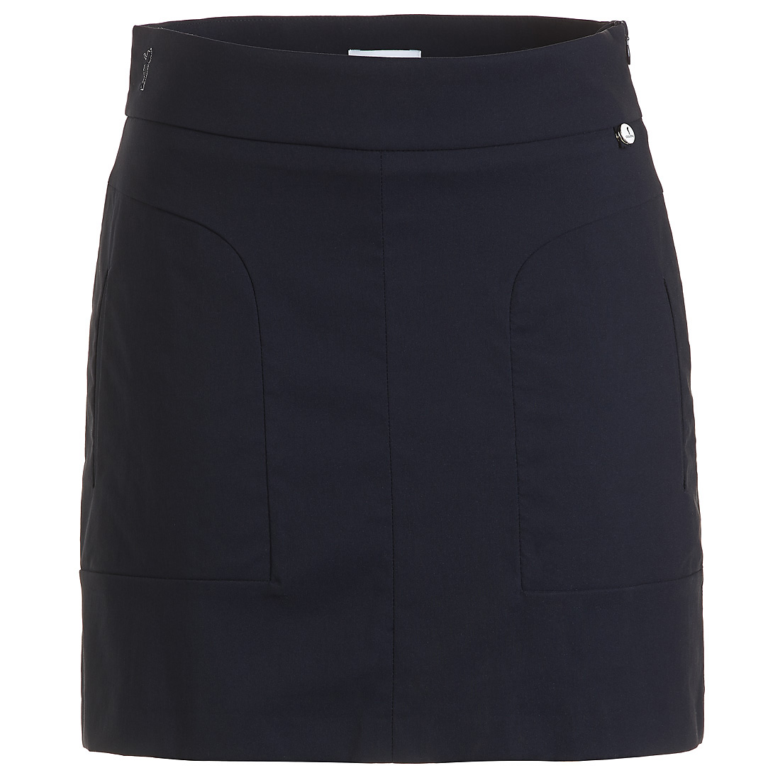Short techno stretch golf skirt with UV protection in comfortable fit