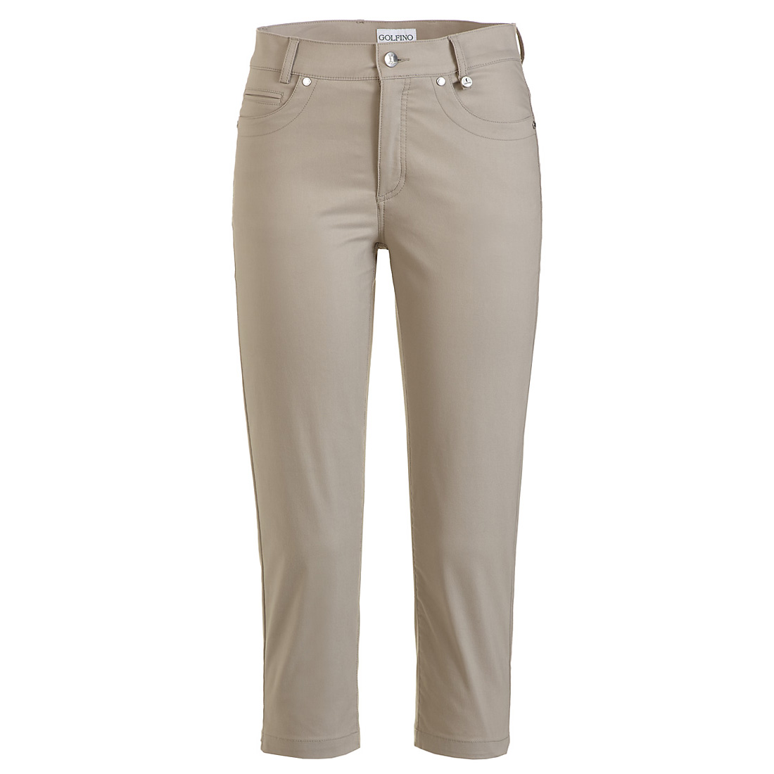 Golf Caprihose aus Baumwoll-Stretch mit Sun Protection in Slim Fit