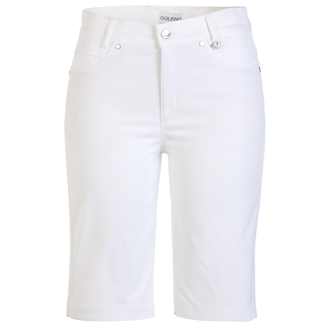 Ladies' golf Bermudas with UV protection and light techno stretch