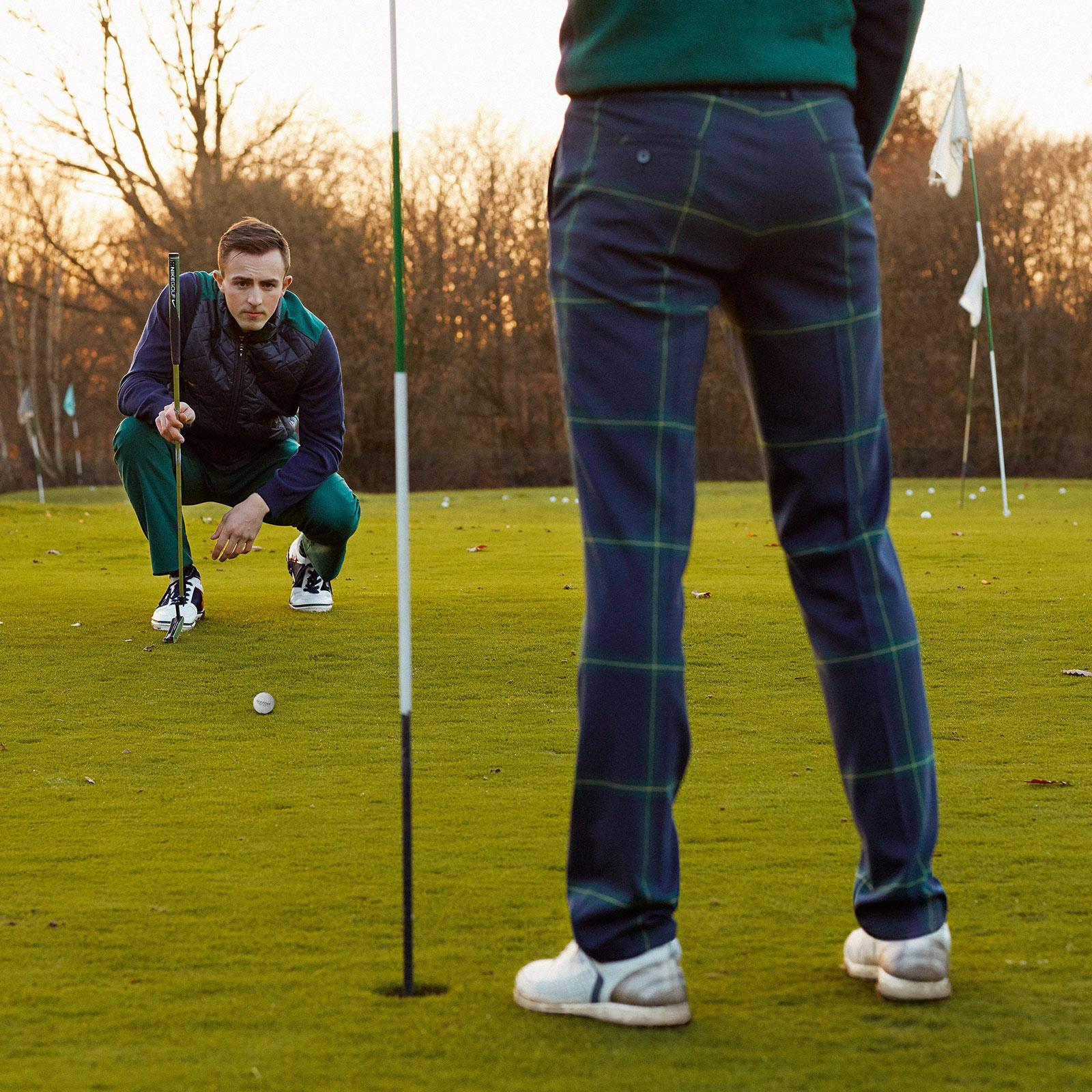 Herren Stretch-Golfhose mit klassischem Karo und moderner Passform