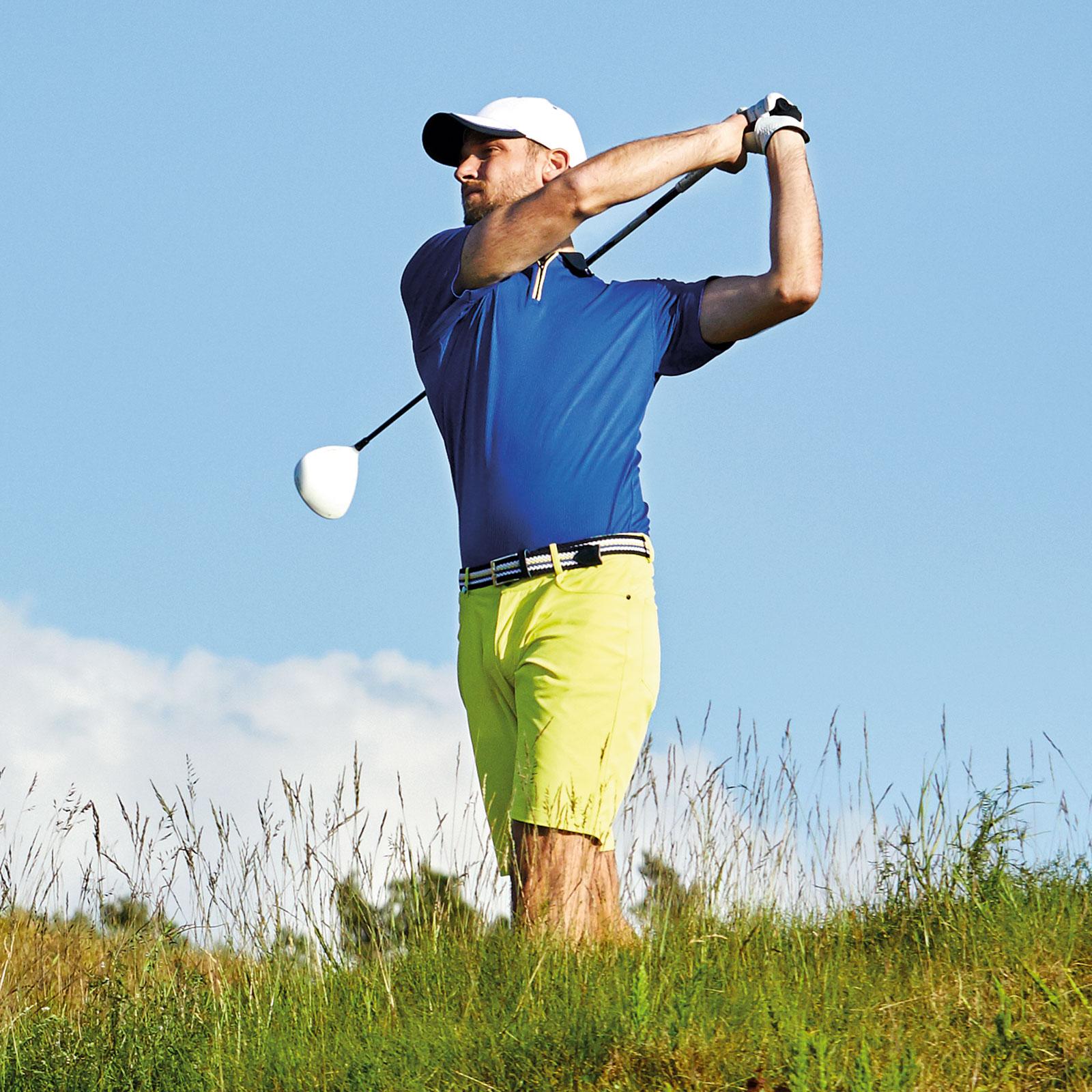 Herren Golf-Bermuda 4-Way-Stretch im 5-Pocket-Stil in Slim Fit