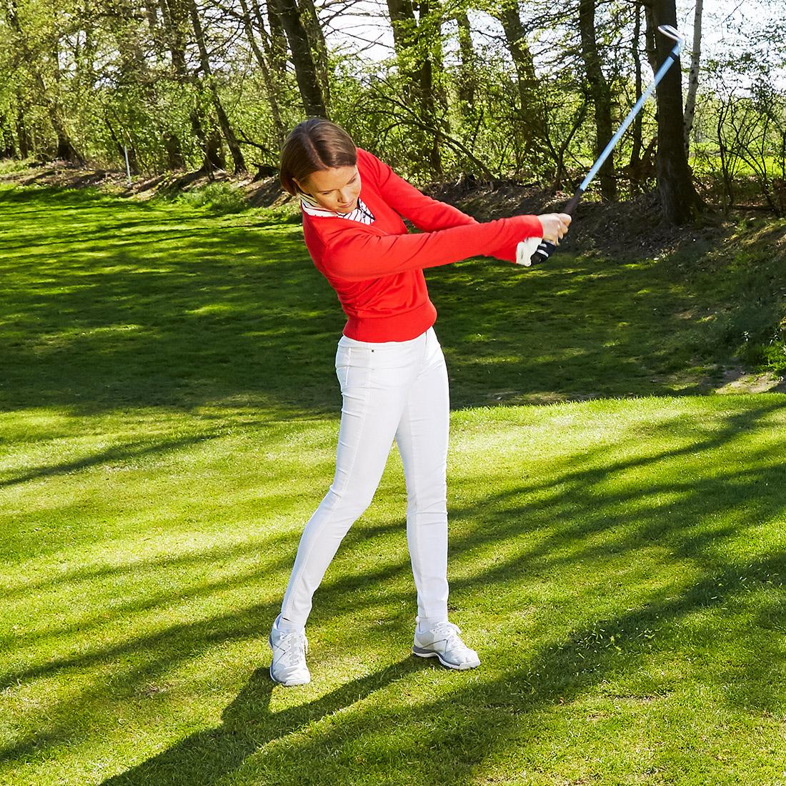 Damen Golfpullover mit V-Ausschnitt