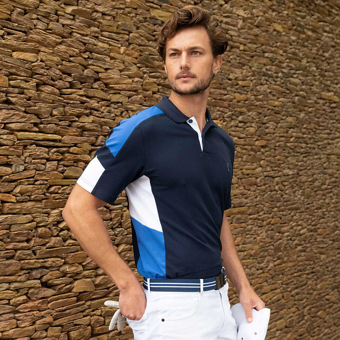 Herren Kurzarm High Tech Performance Golfpolo mit UV-Schutz im Pro-Look