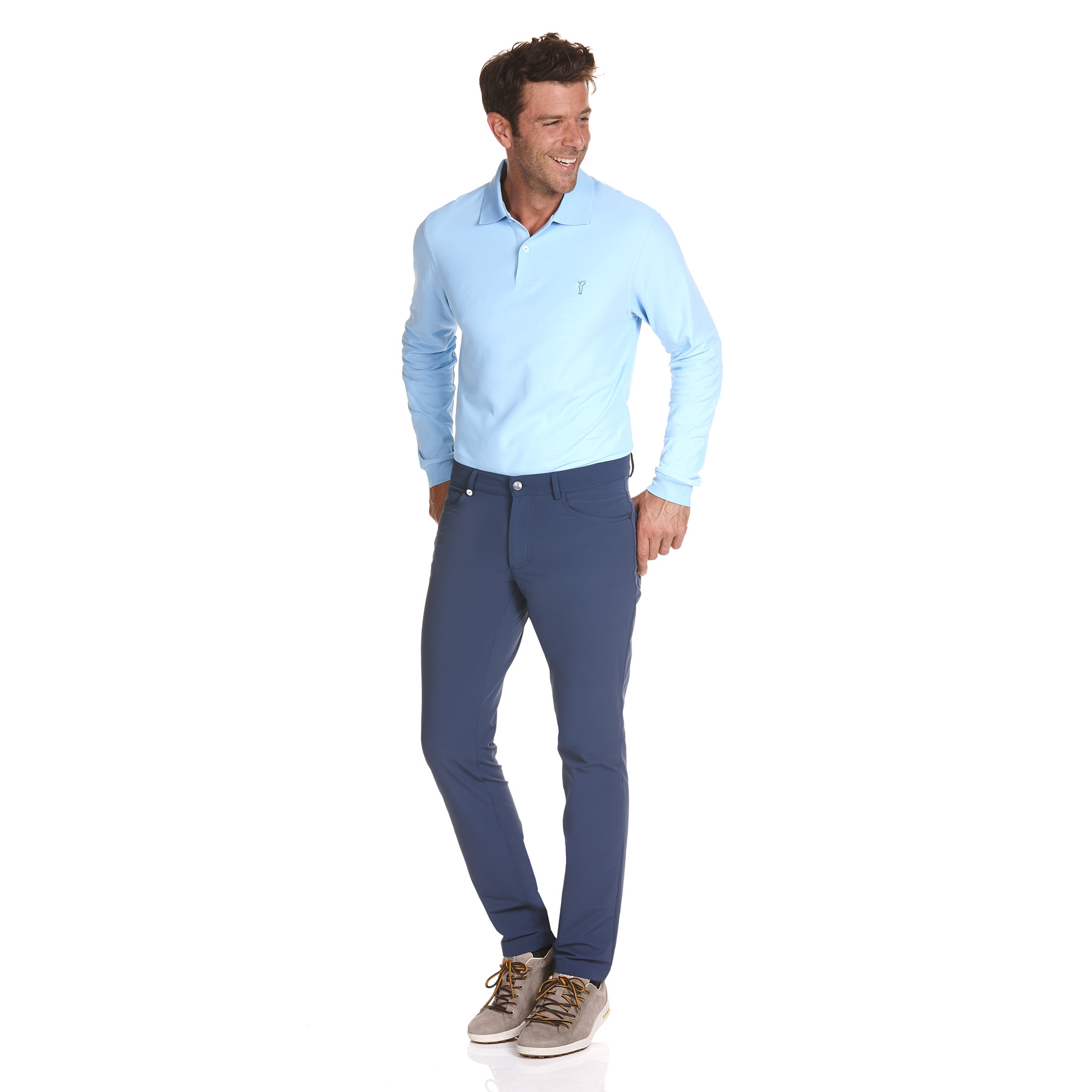Moderne Herren 4-Way-Stretch Funktions-Golfhose in Extra Slim Fit