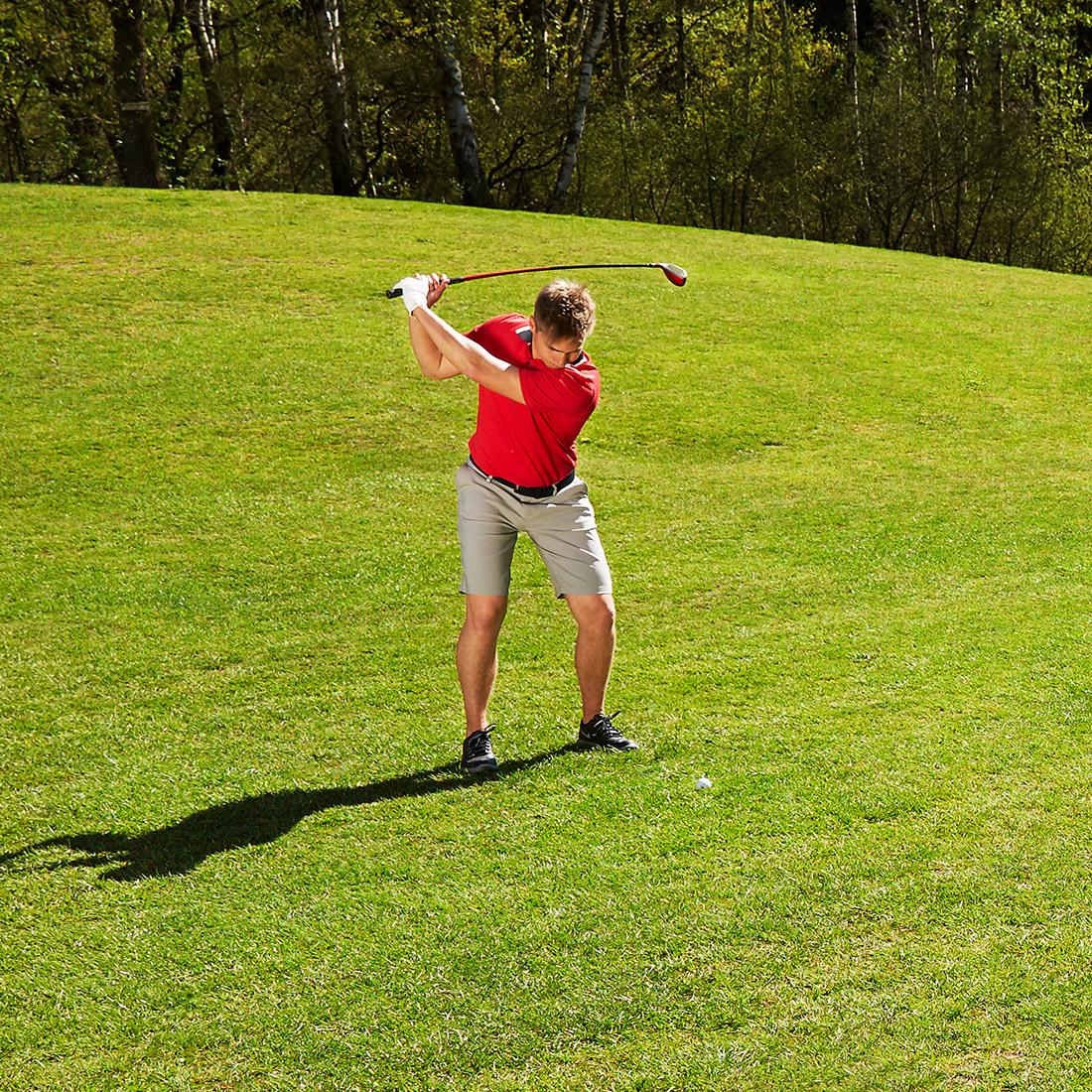 Herren Golfbermuda Techno Stretch Sun Protection in Regular Fit