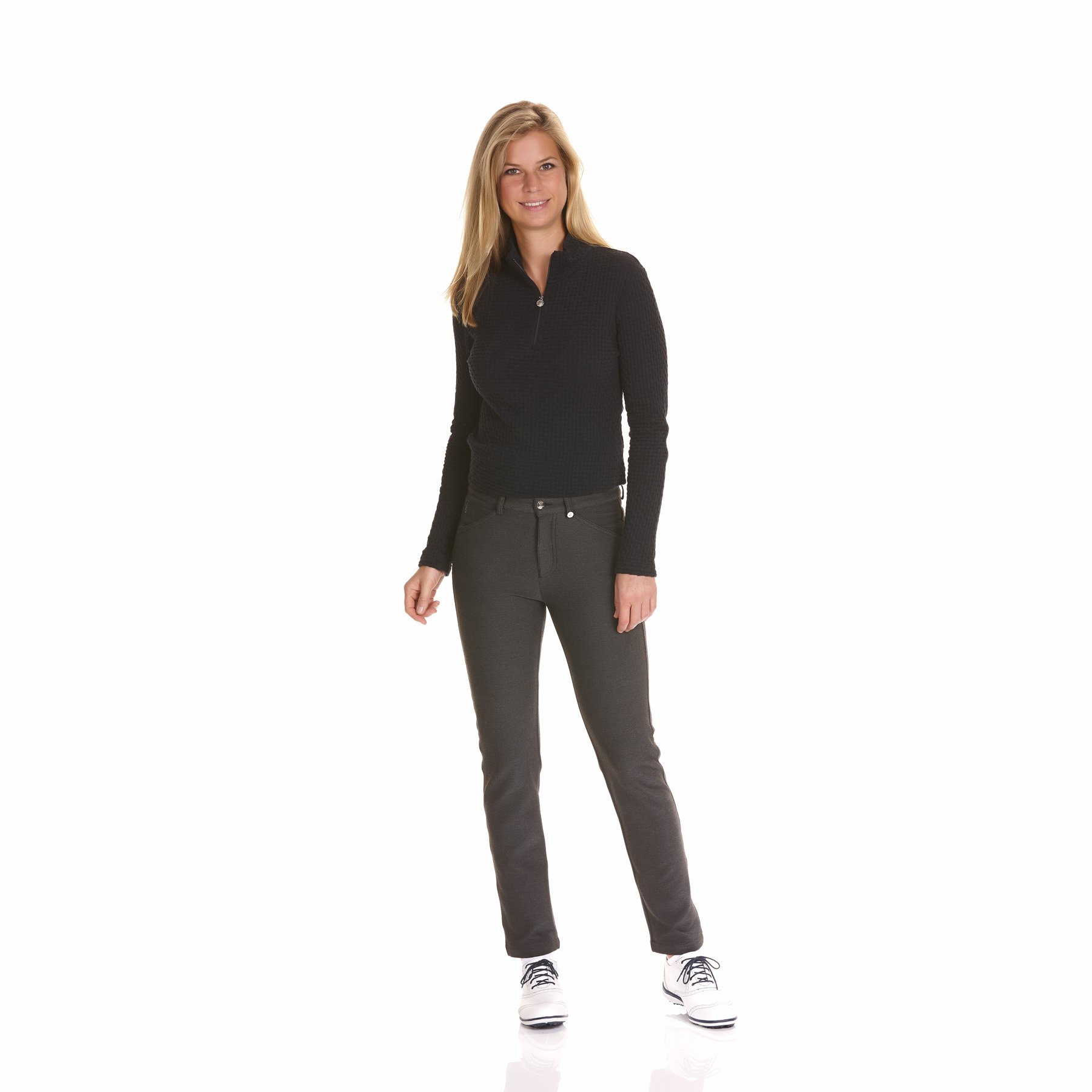 Sweat Slim Fit en tissu stretch avec fib