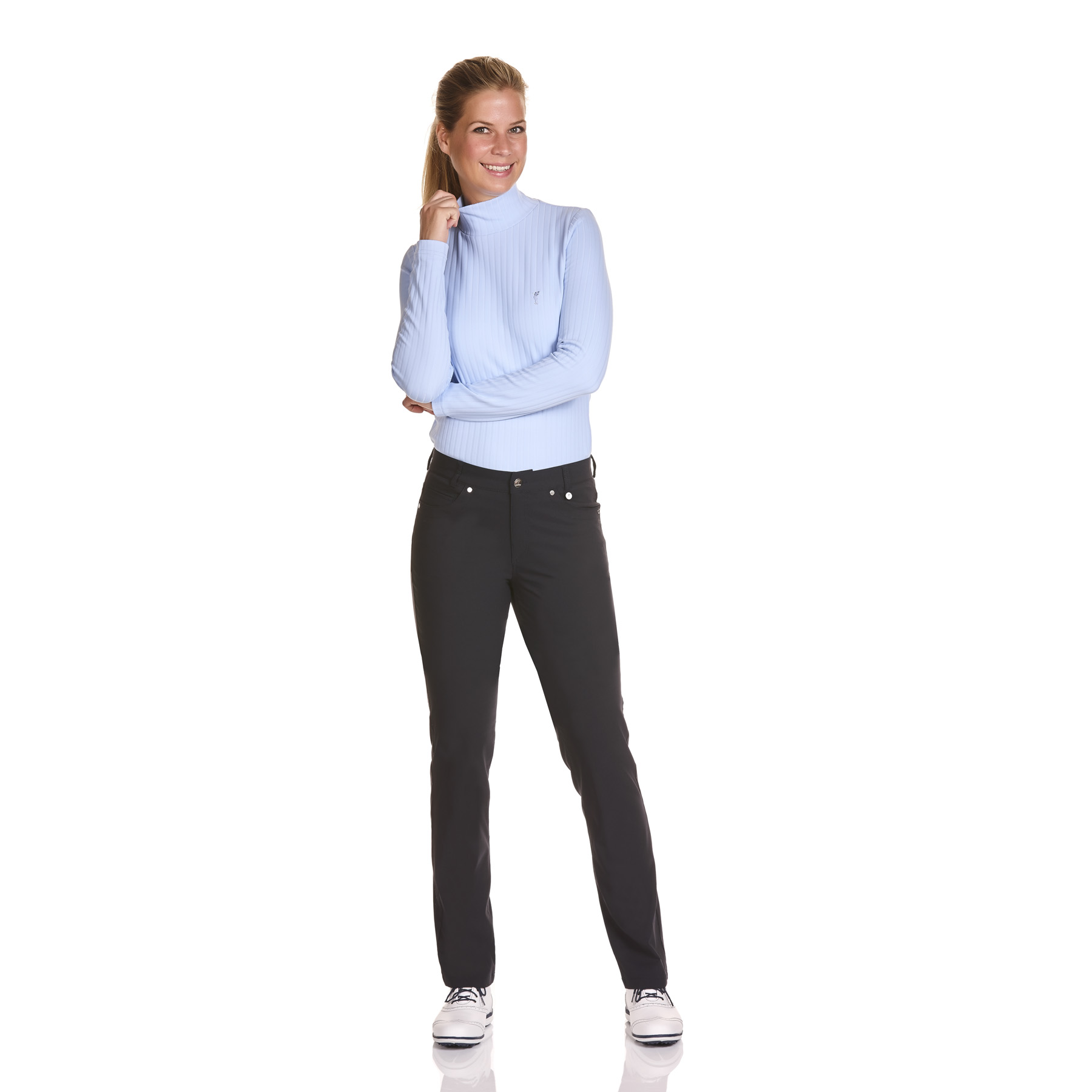 Damen Dry Comfort Rollkragen Stretchunterzieher in Slim Fit