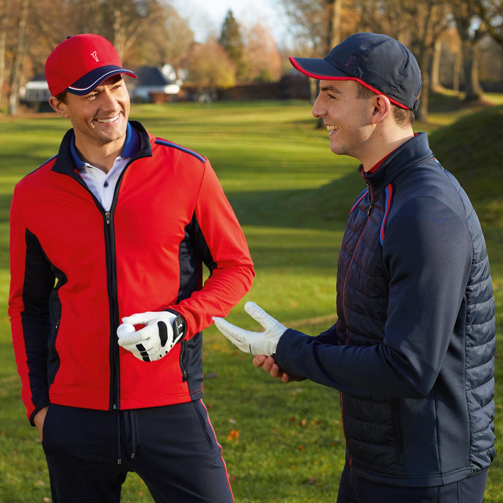 Herren Baumwoll Golfcap Onesize mit Klettband und Ventilationsöffnungen