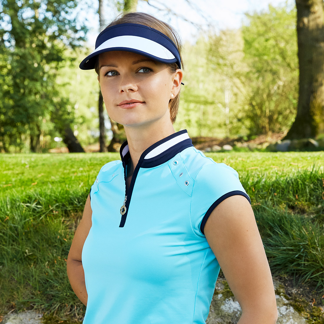 Dry Comfort Ladies' golf troyer from finest jersey with stylish eyelets