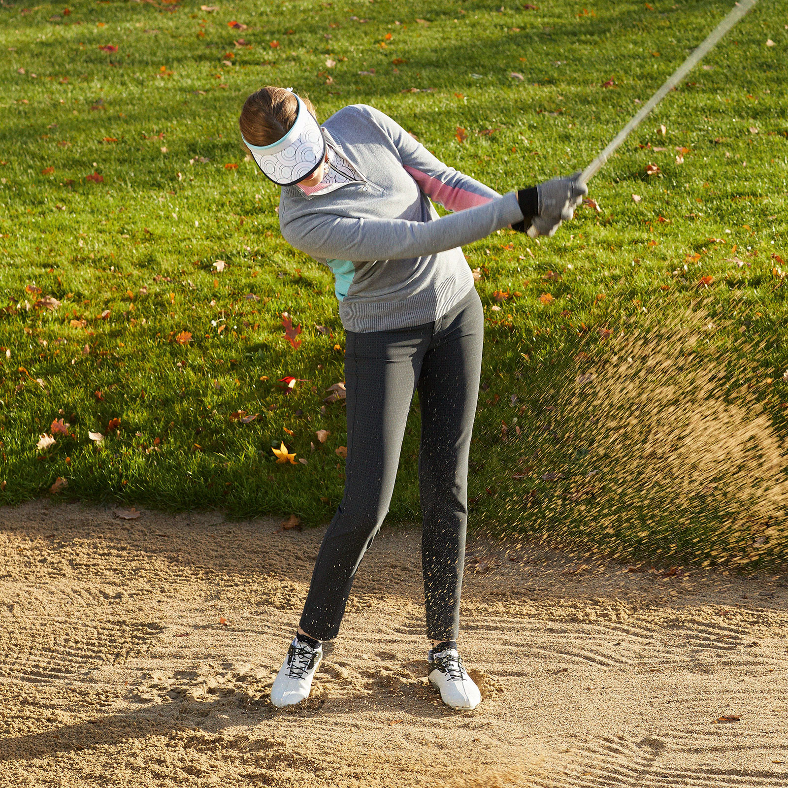 Damen Wolle-Mix Winter Strick Troyer für anspruchsvolle Golferinnen