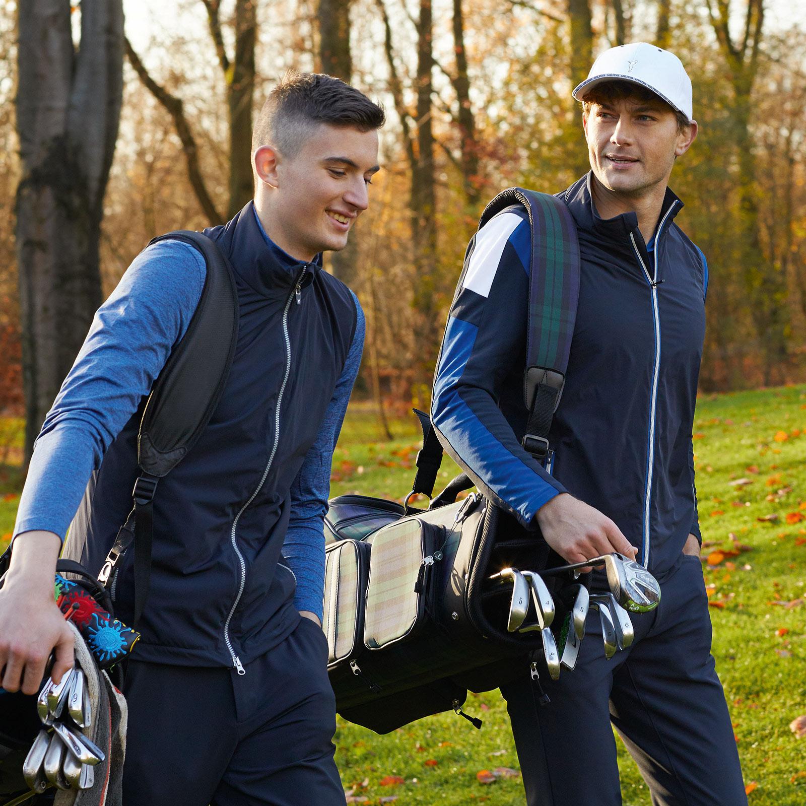 Herren Performance Design Stretch-Golfweste mit Stehkragen